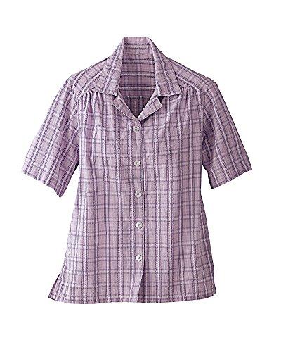 National Plaid Seersucker Camp Shirt, Lilac, Large
