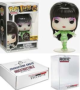 Funko Pop! Chase Elvira As Green Mummy Glow In The Dark, Halloween Exclusive Vinyl Figure, Concierge Collectors Bundle