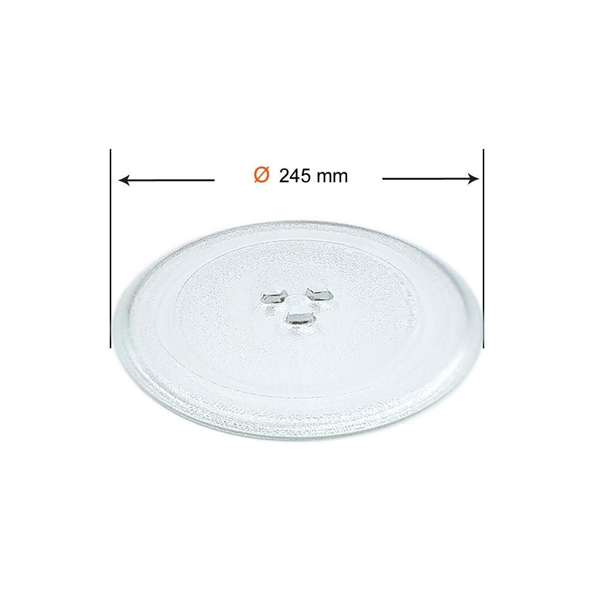 Recamania Plato para microondas diametro Ø 245mm Universal: Amazon.es