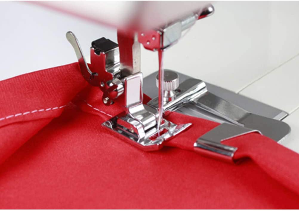 6 Pcs Hemming Foot Kit Rolled Hemmer Presser Foot for Singer Janome Domestic Sewing Machines pengxiaomei Hem Foot for Sewing Machine Brother