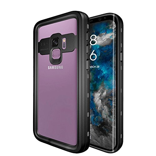 (Galaxy S9 Waterproof Case, iThrough Shock Proof Dust Proof Snow Proof Dirt Proof Phone Case, Full Sealed IP68 Underwater Heavy Duty Protective Carrying Case Cover for Galaxy S9 (Transparent))