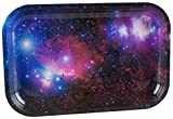 """This 7.5"""" x 11.25"""" Metal Rolling Tray encourages your customers to reach for the stars with this Galaxy shot. Curved, rolled edges keep stash secure."""