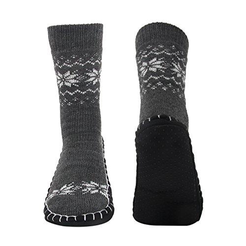 Vihir Men Knitted Non Skid Home Slipper Socks