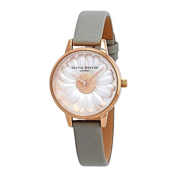 Olivia Burton Reloj Analógico para Mujer de Cuarzo con Correa en Cuero OB15EG50: Amazon.es: Relojes