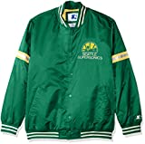 STARTER NBA Seattle Supersonics Men's Legecy Retro Satin Jacket, Medium, Green