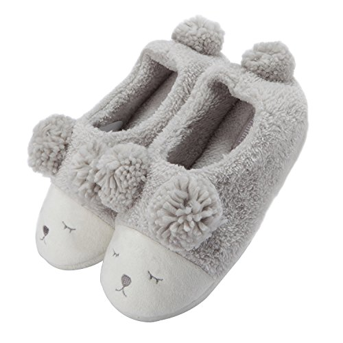 Peluche low Invernale Grigio Pantofola Top Donna Animale dXz4wxAq