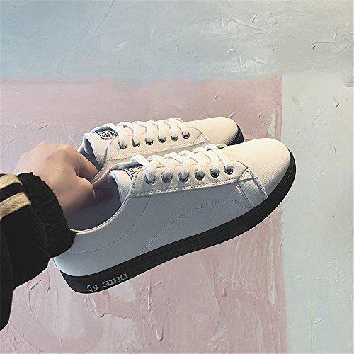 Tela GSCshoe Scarpe piatto lavoro 8 generoso White White primavera casual scarpe scarpe estate scarpe da uomo semplice rr8wO