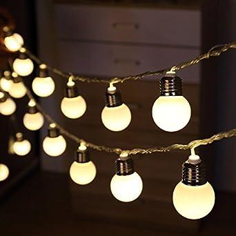 Globo Solar cadena luz bombilla, dinowin 20LED luz guirnalda de luces LED para interior y