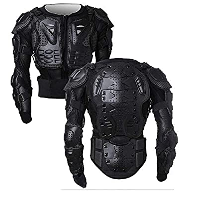 Motorcycle Full Body Armor Protector Pro Street Motocross ATV Guard Shirt Jacket with Back Protection Black 2XL: Automotive