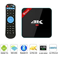 3G/32G Q Plus Amlogic S912 Android 7.1 TV BOX Octa Core Dual WiFi Smart Set Top Box Media Player Support BT4.0 4K H.265
