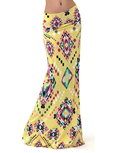 PERSUN Womens Printed African Skirts