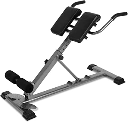Roman Chair Adjustable Hyperextension Back Extension Machine for Home Gym Back Hyper Extension Bench Folding Training Chair with Waist Twisting Dis