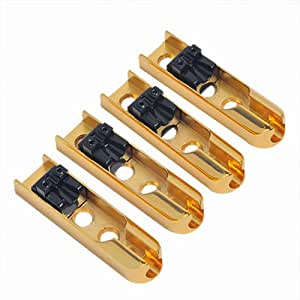 4pcs single string bass bridge gold guitar parts musical instruments. Black Bedroom Furniture Sets. Home Design Ideas