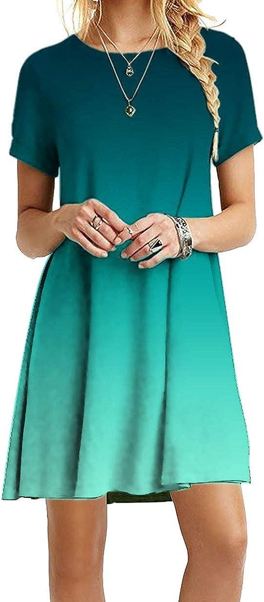 Awear Womens Sleeveless Long Dress Tie-dye Printed Summer Casual Round Neck Dresses