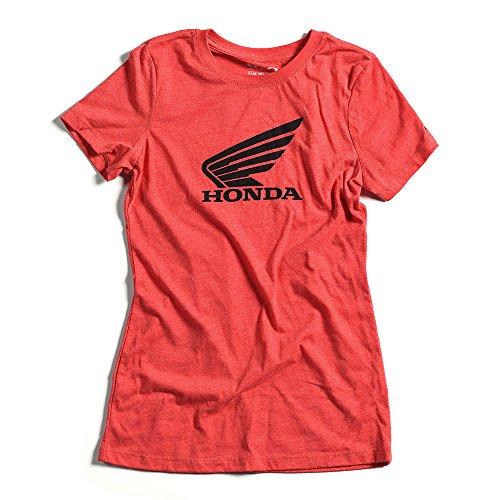 Honda Vintage Car - Factory Effex Women's T-Shirt (vintage red, Large) - 21-87304