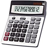 OFFIDIX Large Key Calculators Office Desktop Calculator, Dual Power Electronic Calculator Portable 12 Digit Large LCD Display Calculator 2018 Fathers Day Gift
