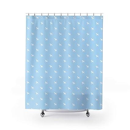 Amazon Urbandecal Beagle Shower Curtain Dog Pet Light Blue