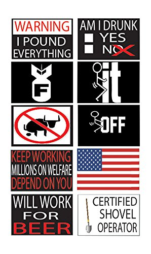 Best Selling Funny Work Hard Hat Helmet Stickers Decals Version 2 Toolbox Construction Worker Mechanic Value Pack (Version 2)