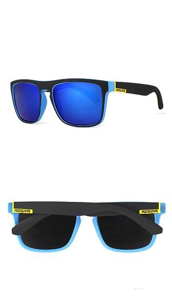 KDEAM - Gafas de sol - para hombre Azul Blue Lens/Matte ...
