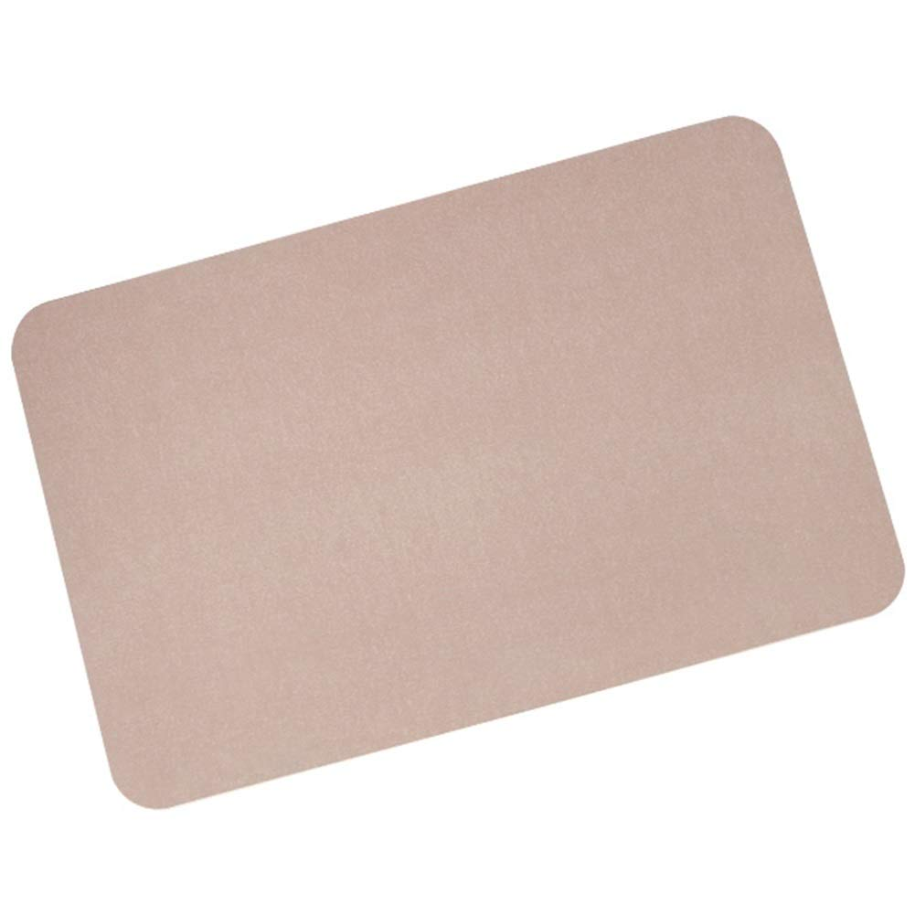 WHAIYAO Bathroom Mat Diatomaceous Earth Material Comfortable Non-Slip High Water Absorption Remove Odor Quick Dry, 4 Colors, 2 Sizes (Color : Pink, Size : 60X39cm)