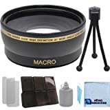 58mm 0.43x Wide Angle Lens for Canon EOS 5DS R Rebel T6s 5DS Rebel T6i 7D Mark II T1i T2i T3 T3i T4i T5i SL1 30D 40D 50D 60D 5D 1D Mark 2 T5 DSLR & an eCostConnection Accessories Kit