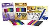 Magic Color Changing Markers with Stencil and Blow Pen Attachment - Set of 20