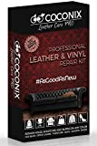 Coconix Upholstery, Vinyl and Leather Repair Kit - Restorer of Your Couch, Sofa, Car Seat and Your Jacket - Super Easy Instructions to Match Any Color - Restore Any Material, Genuine, Bonded, Bycast