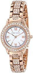 Anne Klein Women's AK/1492MPRG Swarovski Crystal Accented Rose Gold-Tone Bracelet Watch