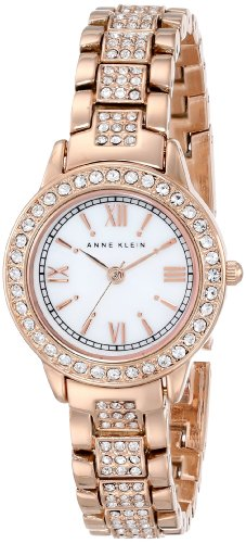 Anne Klein Women's AK/1492MPRG Swarovski Crystal Accented Rose Gold-Tone Bracelet Watch