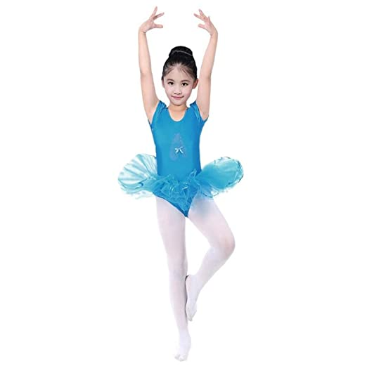 4b82f2aed Amazon.com  Kids Girl s Camisole Ballet Tutu Dress up Leotard ...