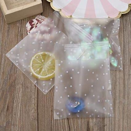 100 piezas de plástico transparente celofán lunares Candy ...