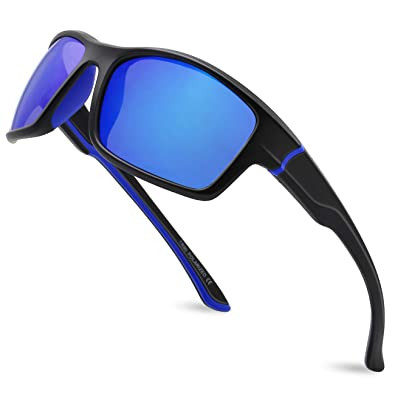 MAXJULI Polarized Sports Sunglasses for Men Women for Running Fishing Driving MJ8014