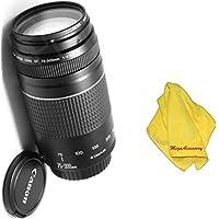 Canon 75-300mm III Zoom Lens + MEGAACC Microfiber Cloth