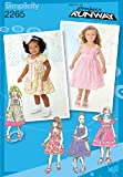 Simplicity Project Runway Pattern 2265 Girls Dress in 2 Lengths with Bodice ...