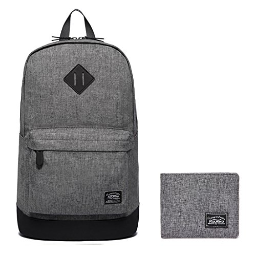 Lightweight School Backpack KAUKKO Casual Daypack Laptop Bag (2grey2pc)