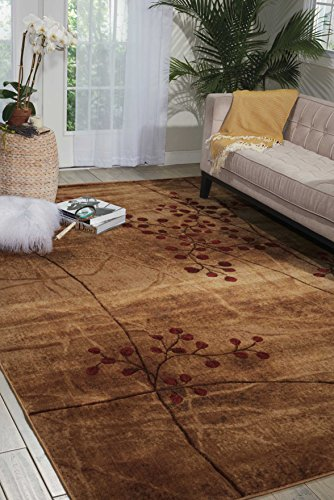 Acrylic Contemporary Rug (Nourison Somerset (ST74) Latte Brown Area Rug, 2' x 2'9