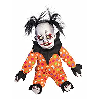 Forum Novelties 79021 Prop-Evil Clown Doll, Black/Orange, one size