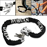 Bike Bicycle Lock Anti-theft Alloy Steel Mountain Road Cycling Bike Chain Locks Bicycle Motorcycle Security Lock with Key,Pusheng