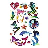 Homeford Ocean Mermaid 3D Puffy Glitter Stickers, 16-Piece