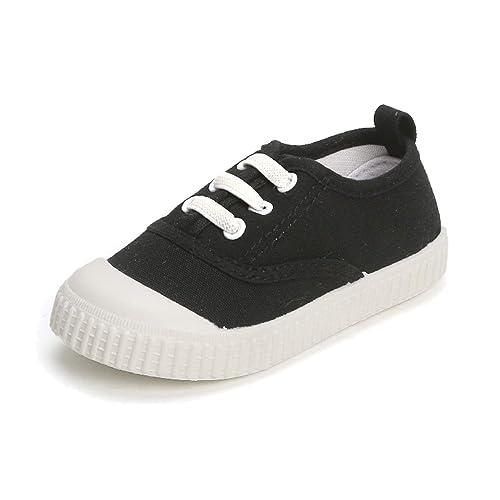 901803cd1e25 Toddler Little Kid Boys Girls Slip On Canvas Sneakers Classic School Running  Tennis Shoes (