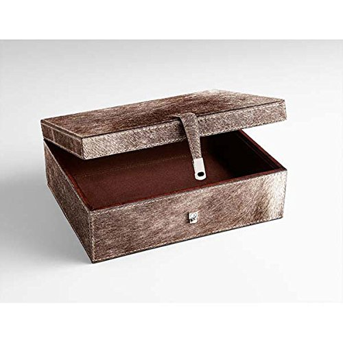 Zinc Decor Small Wood & Leather Jewelry Box Keepsake Storage Chest