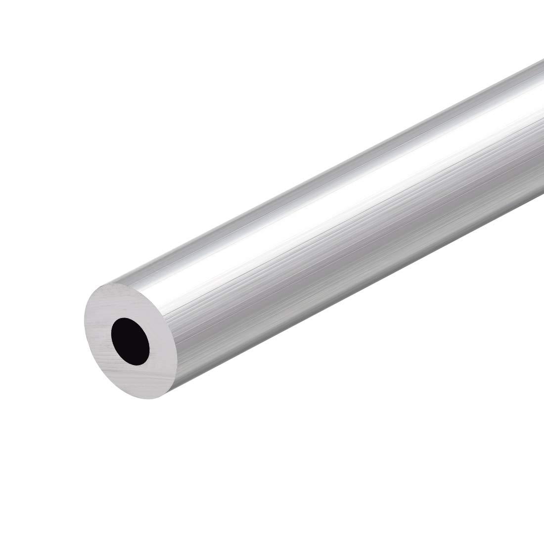 sourcing map 6063 Aluminio Redondo Tubo 300mm Longitud 18mm OD 5-15mm Di/ámetro Interior Sin Costura Aluminio Recto Tuber/ía ID de 8 mm x 17 mm de di/ámetro exterior 3 piezas