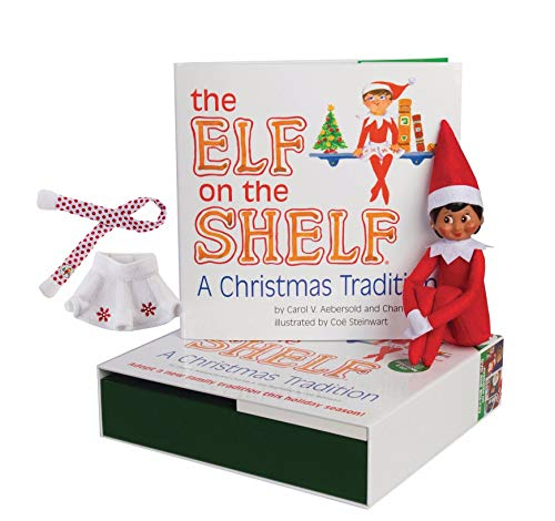 The Elf on the Shelf: Girl Elf (Brown Eyed) with Snowflake Skirt & Scarf