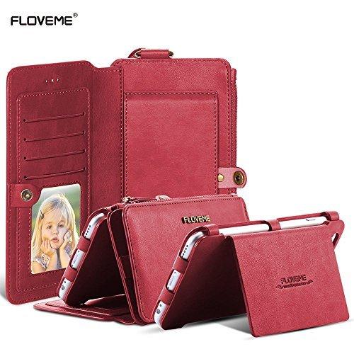 20 opinioni per FLOVEME Custodia per iphone 6s Plus/iphone 7 plus Portafoglio a Libro 2 in 1 in