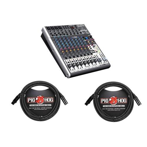 - Behringer XENYX X1622USB Premium 16-Input 2/2-Bus Mixer with XENYX Mic Preamps and Compressors, British EQs - With 2 Pack 15' 8mm XLR Microphone Cable
