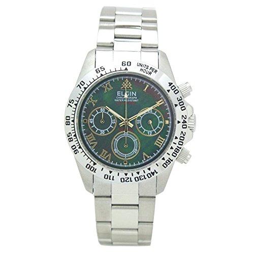 - ELGIN Chronograph Quartz Men's Watch FK1406S-B Black Shell