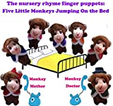 Yingealy Creativity and Imagination 7 Pcs Finger Puppets Story Telling Five Little Monkeys Jumping on The Bed Perfect Kids Gift
