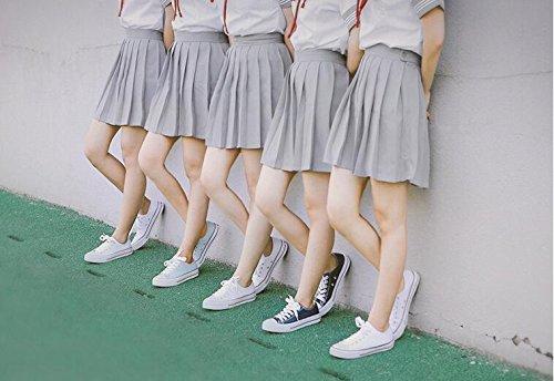 Chaussures Mode Chaussures Chaussures Femmes Chaussures Fond Beige Toile Classique Koyi Blanc Sport Casual Couple de Plat Espadrilles Filles SqHZxAWnwO