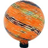 Sunnydaze Sunset Sky Gazing Globe Glass Garden Ball, Outdoor Lawn and Yard Ornament, 10-Inch