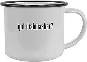 got dishwasher? - 12oz Camping Mug Stainless Steel, Black